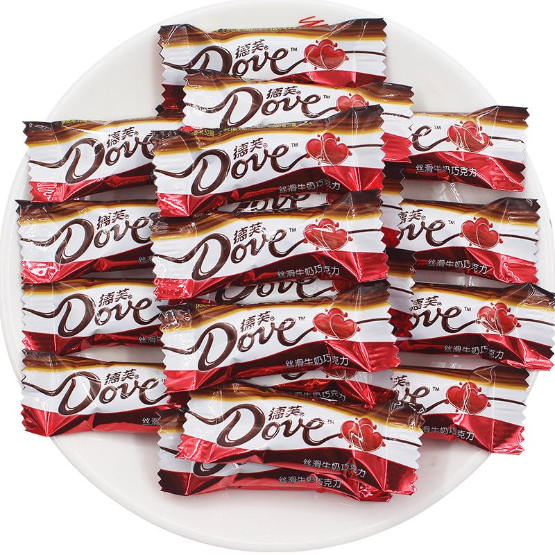 德芙巧克力500g礼盒装批发散装牛奶结婚糖果喜糖小零食情人礼物图片