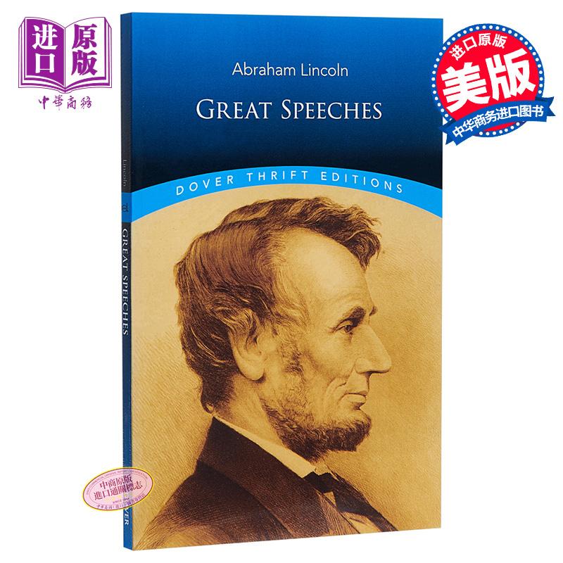 【中商原版】亚伯拉罕 林肯的伟大演讲稿 英文原版 Great Speeches Dover Thrift Editions Abraham Lincoln