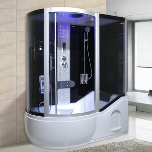 整体淋浴房带冲浪蒸汽洗澡间一体式浴室桑拿房泡澡带浴缸钢化玻璃