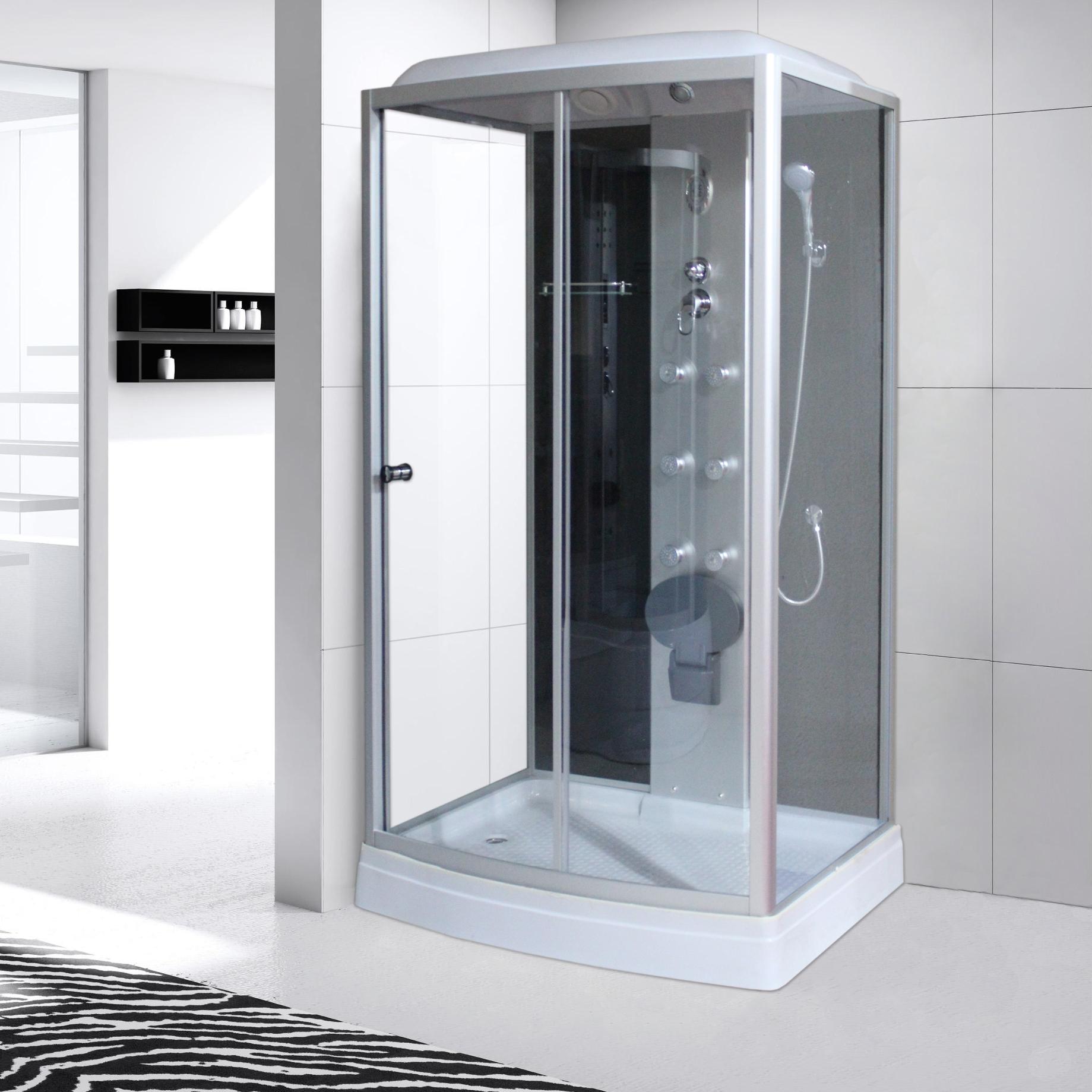 点击查看商品:淋浴房整体一体式长方形家用沐浴间封闭式钢化玻璃浴室移动洗澡间