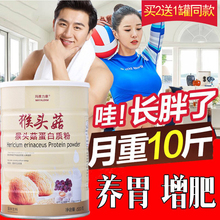 增肥增重wu1女瘦的长rf养粉男性健身猴头菇蛋白质粉增肌长肉