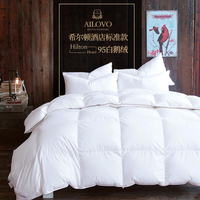 出口欧美羽绒被95白鹅绒被子加厚保暖冬被单双人白鸭绒特价棉被芯满1088元减1000元