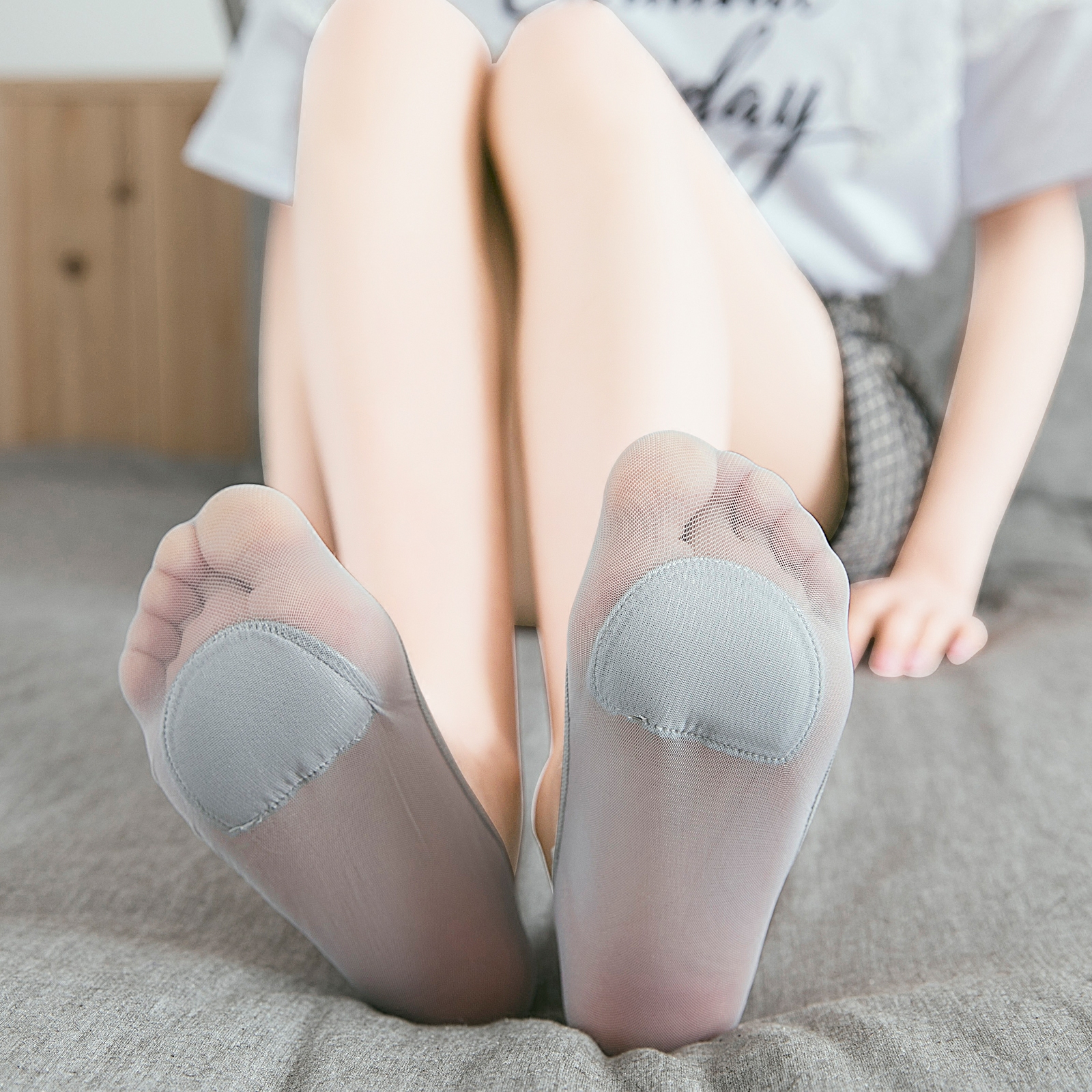 高跟鞋袜子女短袜浅口隐形夏季薄款冰丝女士船袜硅胶防滑透气夏天