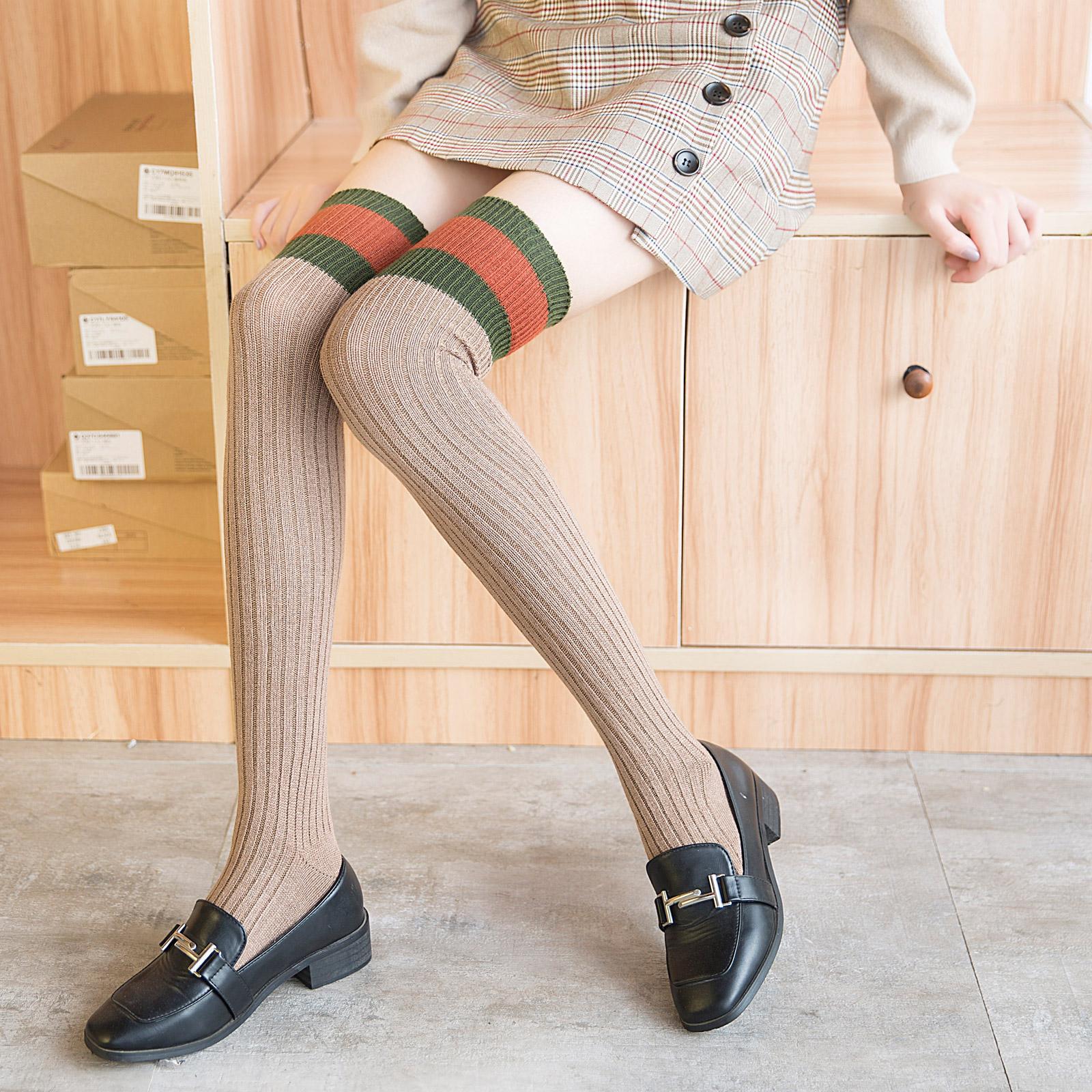 长腿袜子女秋冬季韩国过膝盖学院风大腿袜日系