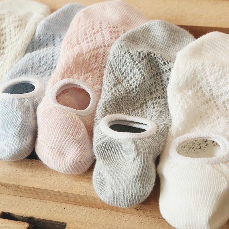 春夏季纯色镂空浅口纯棉船袜子日系森系透气网眼硅胶女生打底船袜