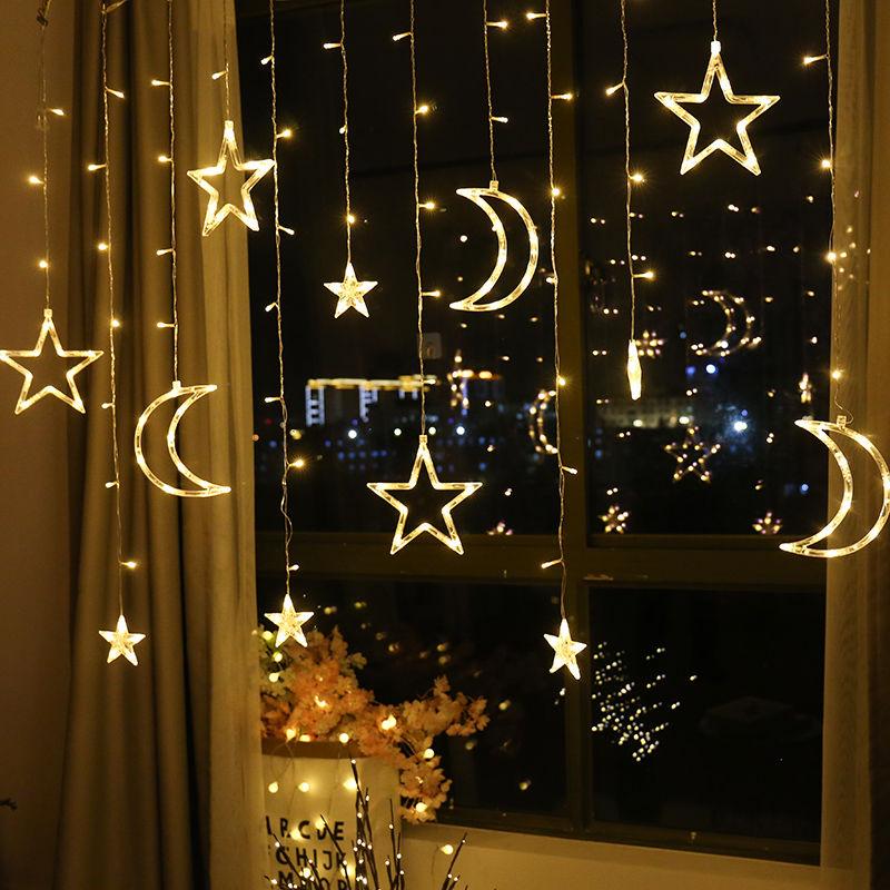 led星星灯圣诞装饰过年彩灯闪灯串灯满天星新年网红房间春节布置