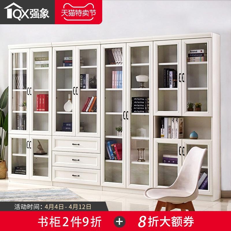 欧式自由组合书柜书架简约现代带门柜子储物柜多功能文件柜F-206