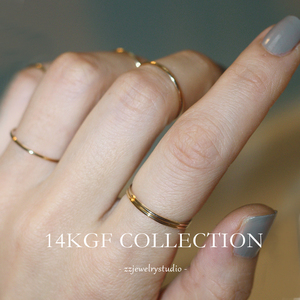14k Note Gold Joint Ring Female Korea Unfaded Retro Style Fashion Personality zz Hand Made Light Jewelry