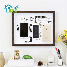 Mobile phone disassembly, mounting frame, derivative paper, three-dimensional frame specimen parts, hollow model disassembly, collection and display frame