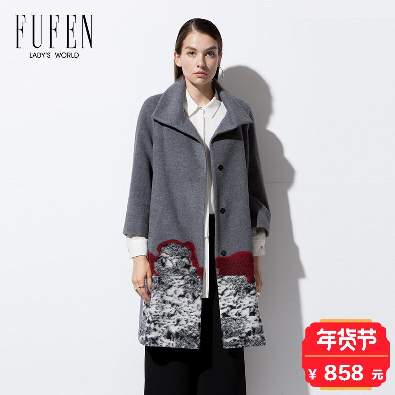 秋冬 新款 品牌 女式 宽松 呢大衣