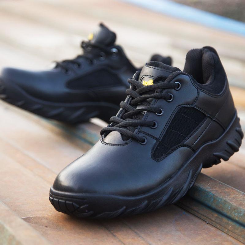 军靴男 特种兵春秋季低帮鞋超轻战狼防滑工装户外作战战术沙漠靴