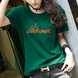 2018 summer new Korean cotton short-sleeved t-shirt female Han Fan loose half-sleeved shirt shirt shirt shirt