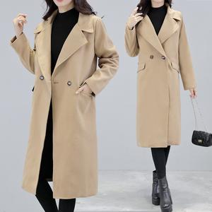 毛呢外套女2018冬装新款大码胖mm宽松女装显瘦加厚呢子大衣中长款