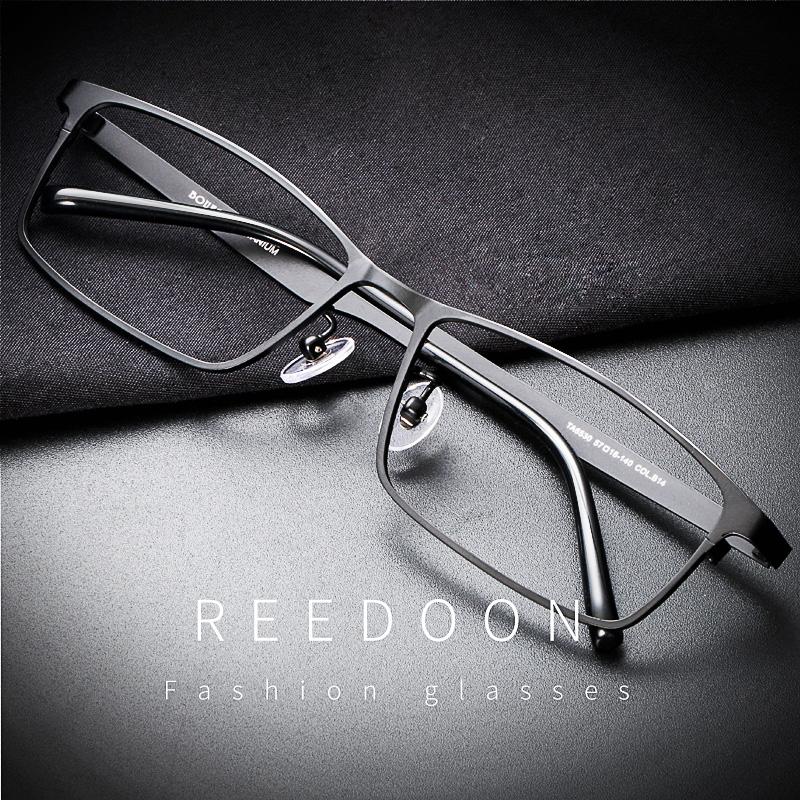 近视眼镜男超轻纯钛平光眼睛框镜架男全框配有度数成品商务眼镜框