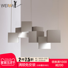 Vivian minimalism creative personality chandelier, living room lamps, Nordic, post-modern bedroom, study, bar lighting