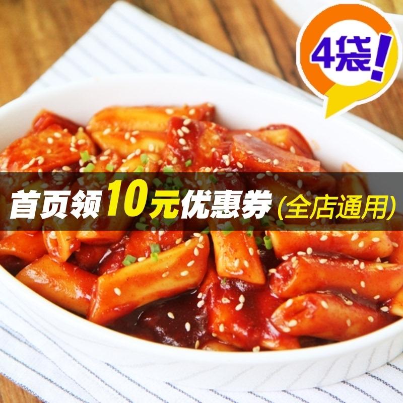 朴家韩国风味炒年糕 辣酱炒年糕条 韩式火锅辣酱炒年糕共4袋 包邮