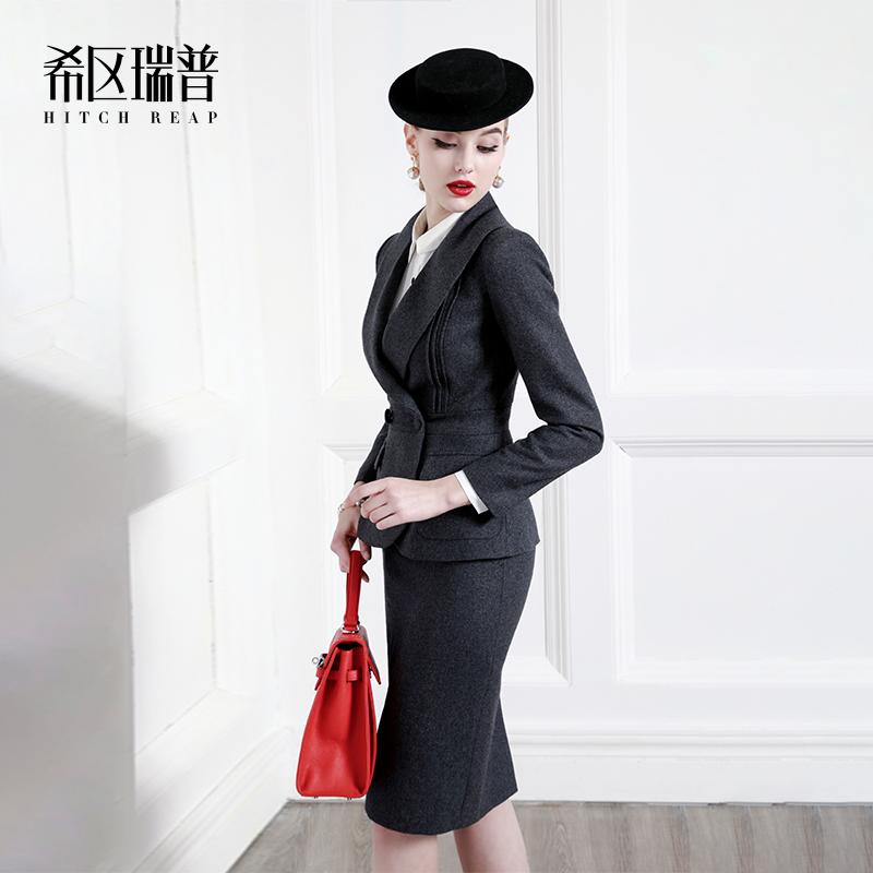 希区瑞普高端精纺职业套裙2019春季气质名媛气质时尚套装女OL正装