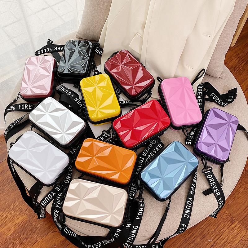行李箱包包女小挎包迷你手机包旅行箱子包斜挎韩版小包盒子化妆包