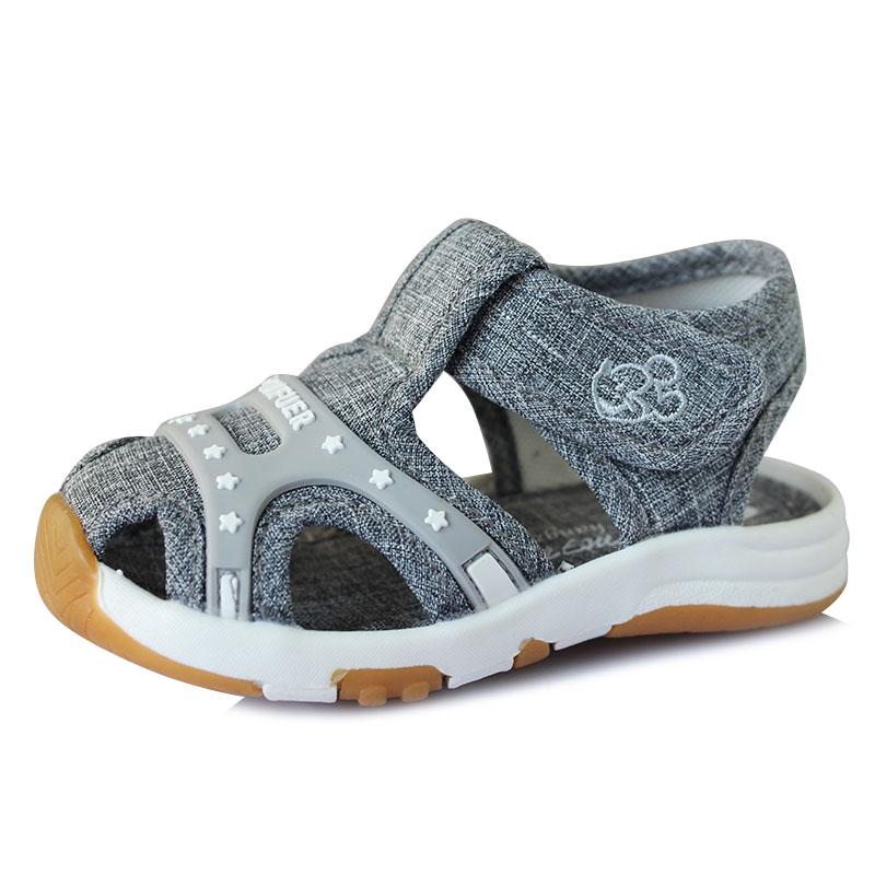 托米福儿夏季凉鞋布面透气童凉鞋女童学步鞋男童防滑宝宝鞋G028
