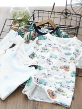 宝宝短袖T恤新式夏装男童de9恤衫男孩si上衣