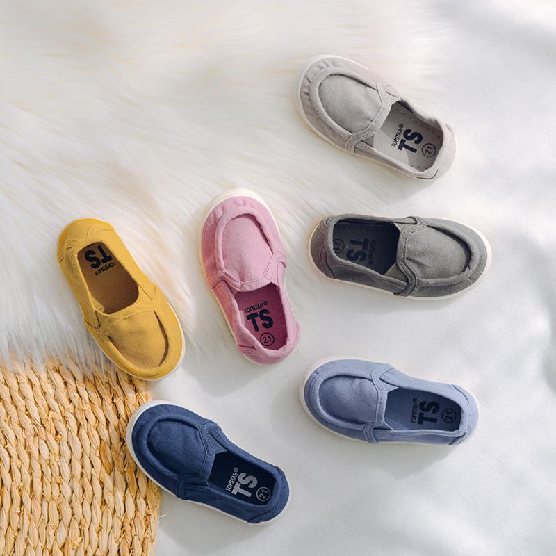 2020春季新品儿童帆布鞋韩国软底小童乐福鞋topstar布鞋
