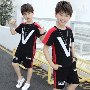 男童夏装套装2020新款童装儿童中大童纯棉韩版夏季男孩两件套潮图片