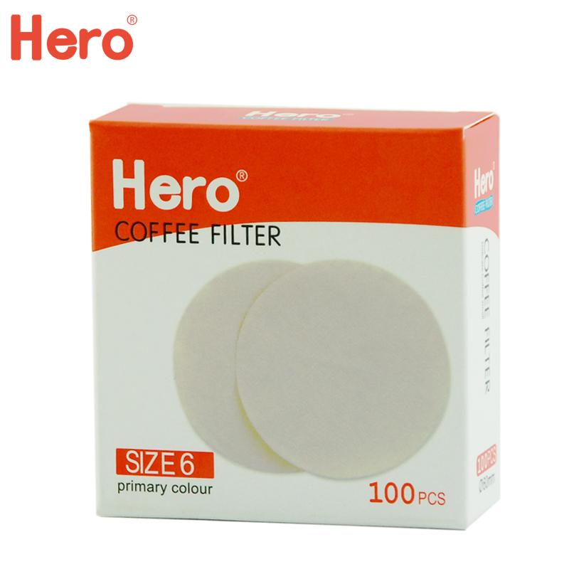 Hero кофе фильтрация бумага кофе мокко горшок фильтровальная бумага 6 количество фильтровальная бумага лед падения горшок кофе м