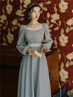 礼服裙轻奢小洋装气质约会民国风宫廷法式复古名媛高端婚礼连衣裙