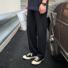 方寸先生裤子男2021夏季黑色垂感da14士休闲h5韩款潮流百搭