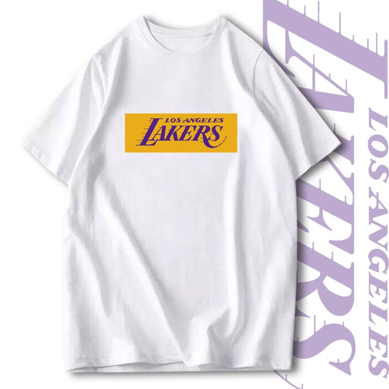洛杉矶湖人队t恤詹姆斯科比短袖男运动学生篮球训练服半袖夏T恤衫