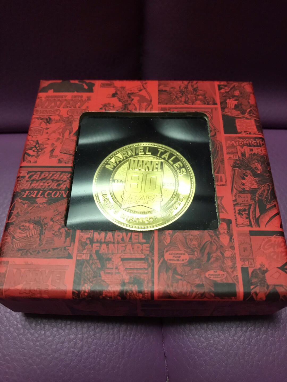 漫威 Marvel 80周年纪念币 收藏金币 奇异博士
