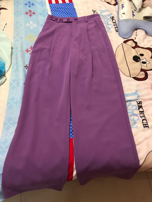 品牌女裤,很有气质的紫色,高腰70厘米,臀围98厘米,裤长1