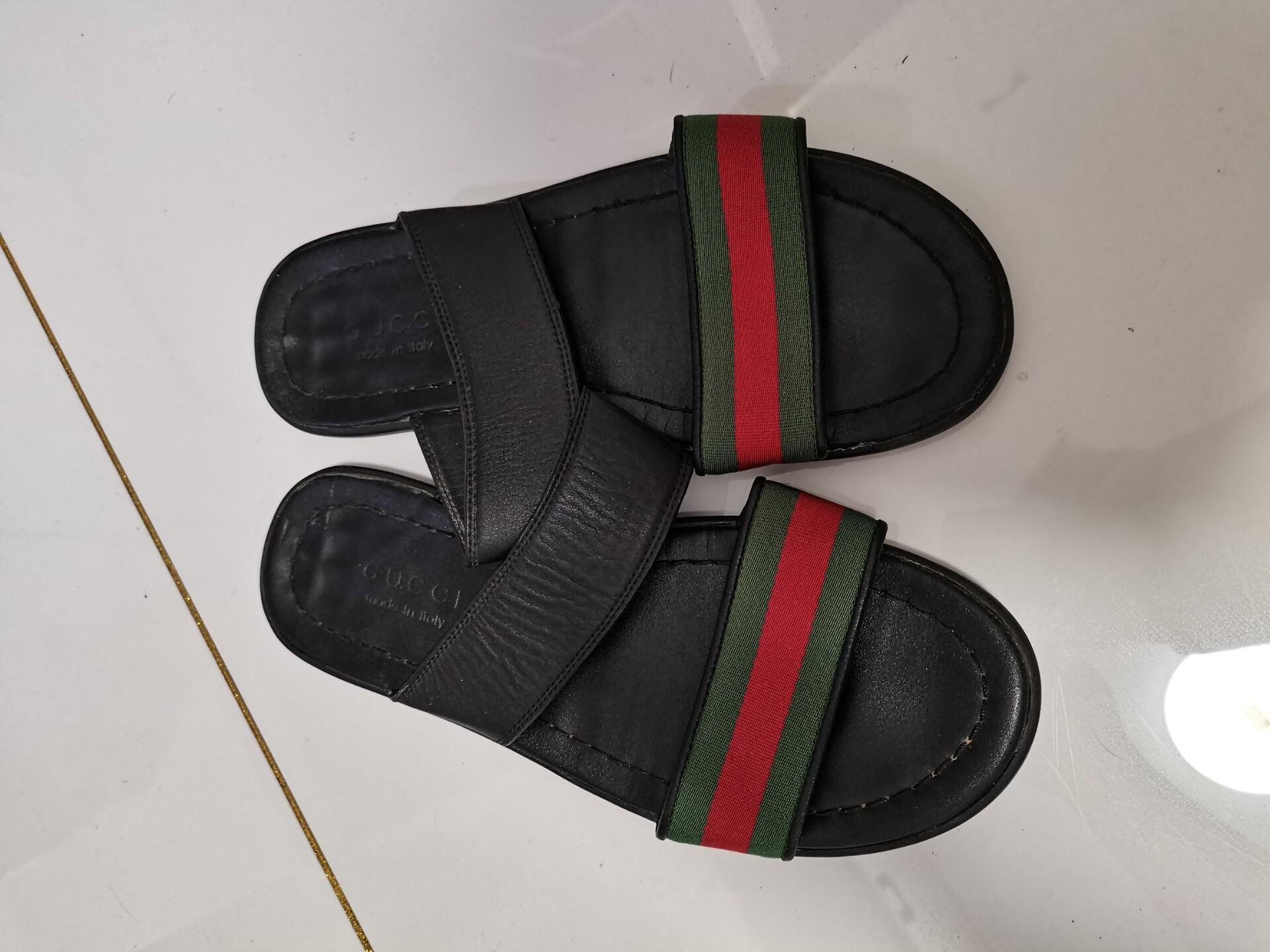 G家凉鞋 男款 纯皮 40码 没穿几次 经典款 去年版