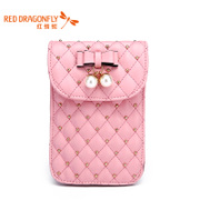 Small fresh red Dragonfly authentic handbag bag new handbag fashion rhombic mini bag phone bag