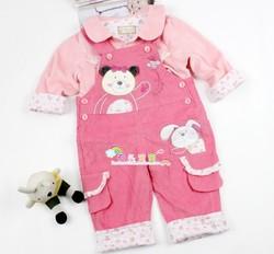 2014新款秋装 婴幼儿服饰宝宝秋装 卡乐吉瑞比好姐妹背带夹衣套