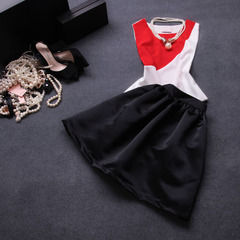 2014 spring and summer under new European stars and the color quality two piece suit dress summer #
