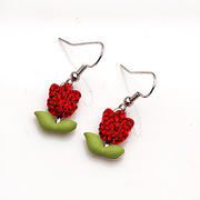 Post the Roses Korean version of smile package long earring earring earring earring Korea earloop jewelry women