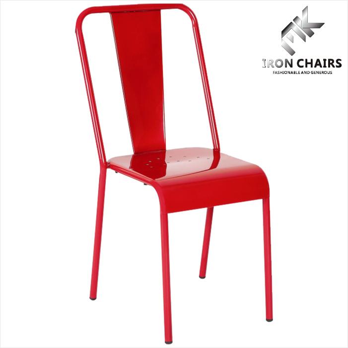 马可家具铁皮椅欧式餐椅靠背椅子复古做旧家具铁艺折叠餐桌椅组合