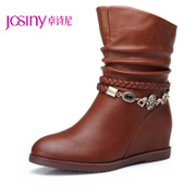 Zhuo Shini short boots casual flats shoes winter 2013 high fringed boots in winter boots women's boots 134174264
