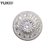 YUKI men''s 925 sterling silver crystal earrings accessories shining star personality hipster cool nightclubs Tremella ornaments
