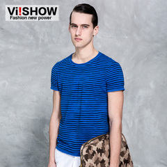 New short sleeve t-shirt viishow2015 men men emulate sahagin stripe Ralph Lauren short sleeve t shirt