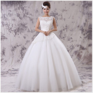 Honey made in 2015 new sexy lace Halter wedding dresses one shoulder wedding dress without sleeves and thin bride-