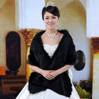 Honey made in wool capes, long black wool shawls, Bridal shawl PJ08-