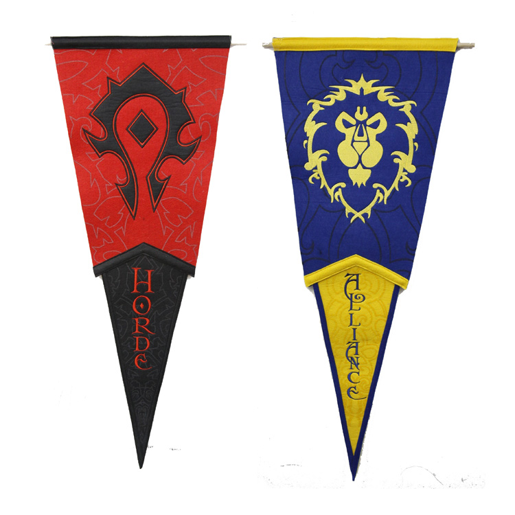 包邮魔兽wow周边 部落联盟标志旗帜 挂旗三角旗阵营旗帜战旗