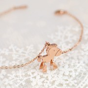 Mail compose good jewelry money immediately the Korean version of a child''s small horse rose gold bracelet women fashion Korea