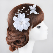 Good fan of pretty Butterfly flower bride hair Korean style wedding dress accessory beautiful bridal styling Hair Studio styling accessories