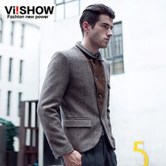 Viishow men's casual Western brand in Europe and America style slim fit suit men's solid color jackets spring new