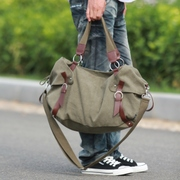 Blue canvas bag 2014 new ethnic shoulder bag Messenger bag casual Korean version of the trendy man bag travel bag