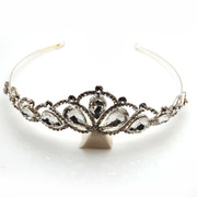 Smiling bridal tiara headband jewelry fashion jewelry Korean novel