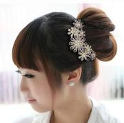 Decorated hair accessories bag mail plug made by the Korean fashion jewelry tiara hair clip flower hair comb hair ornament